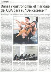 Delicatessen Diario Alto Aragón
